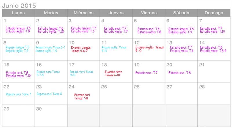 horario deberes